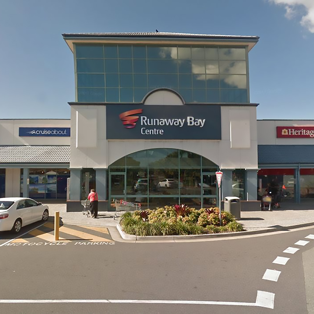We are located right in the heart of Runaway Bay Shopping Centre